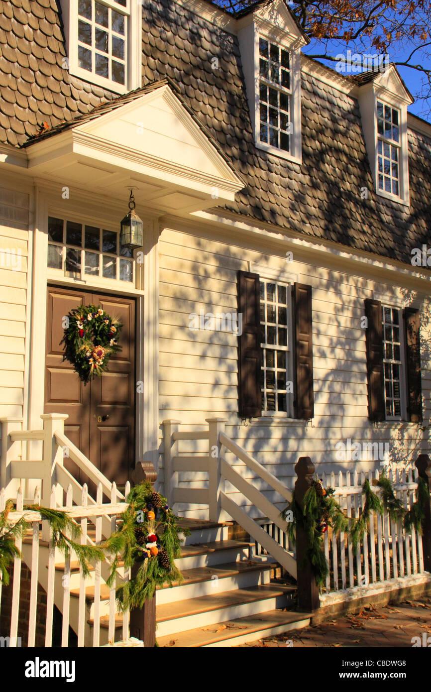 christmas decorations colonial williamsburg virginia usa