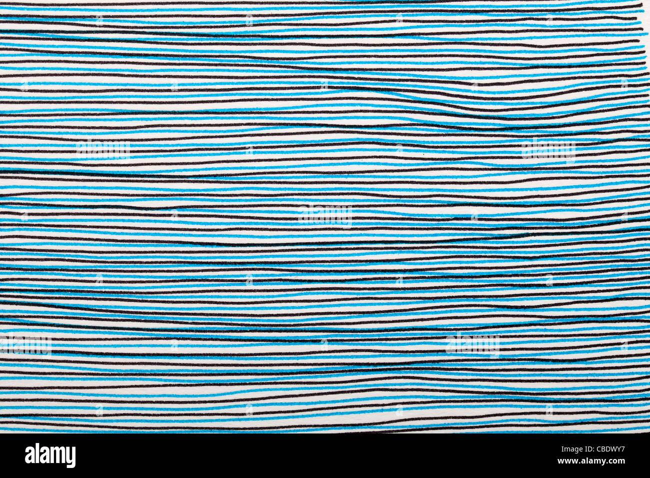 Scribble Abstract Black And Blue Lines Pen Drawing And