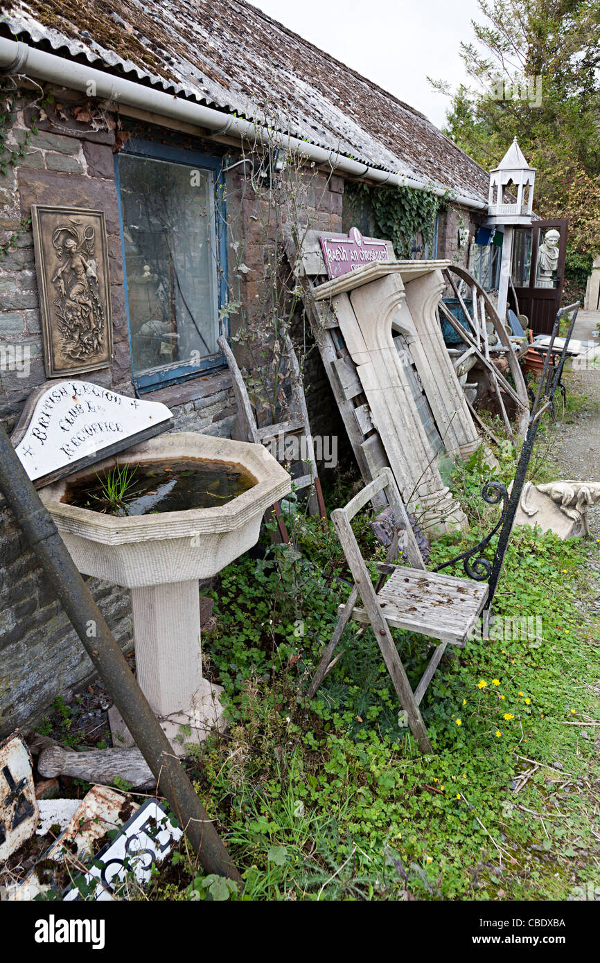 Architectural salvage yard Wales UK - Stock Image