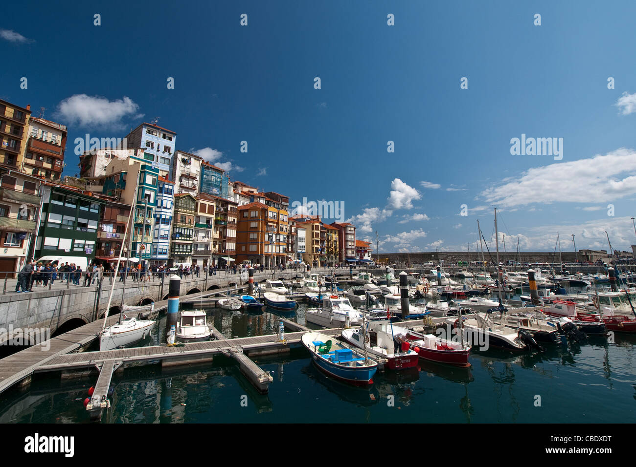 Old port of the village of Bermeo, province of Biscay, Basque Country, Euskadi, Spain, Europe. - Stock Image