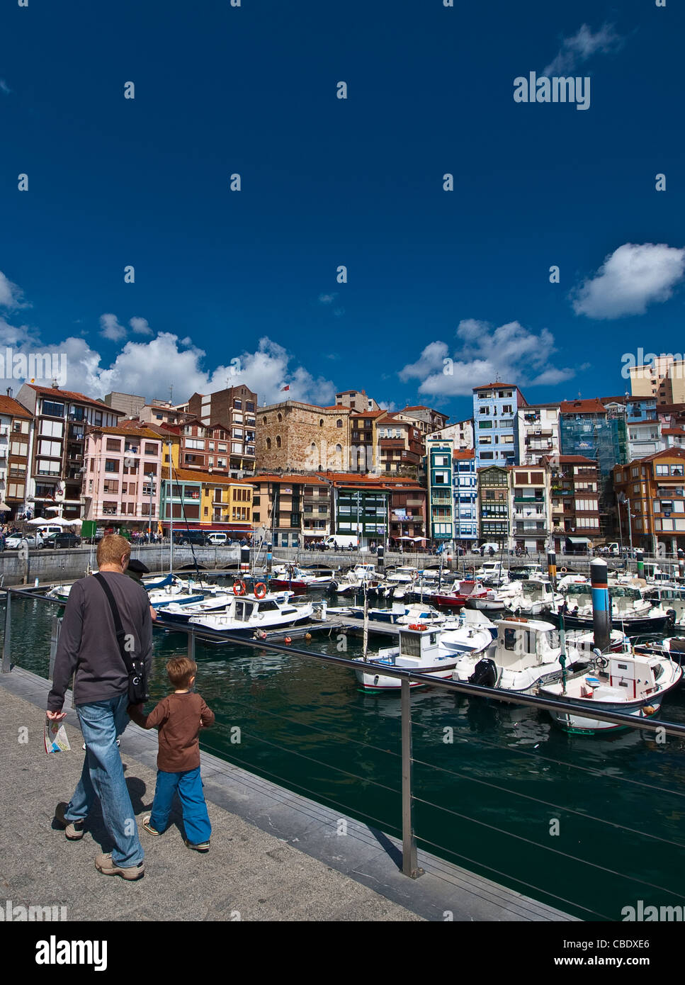 Port and village of Bermeo, province of Biscay, Basque Country, Euskadi, Spain, Europe. - Stock Image