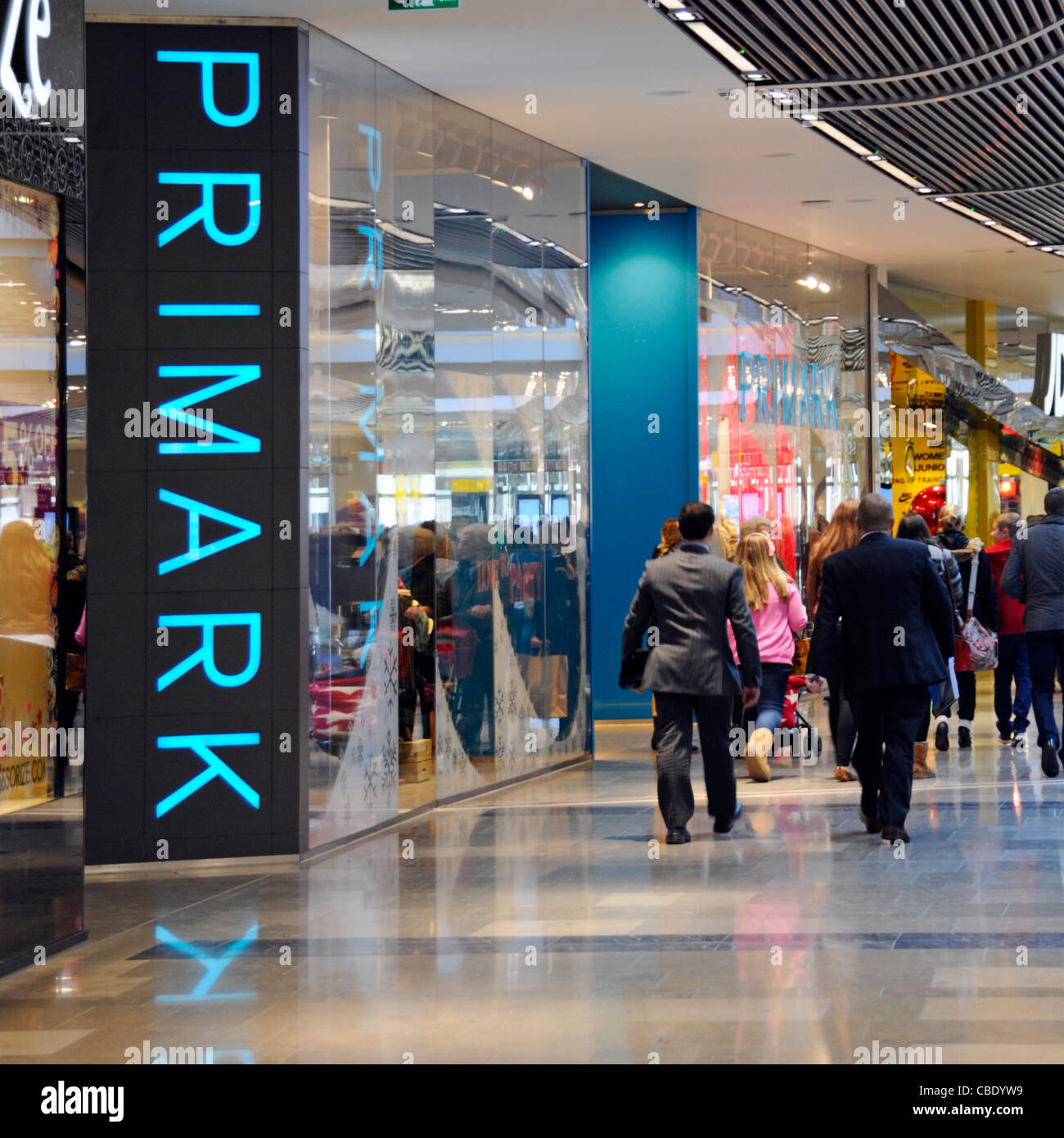 close up of blue primark shop front store sign shopper people stock photo 41489205 alamy. Black Bedroom Furniture Sets. Home Design Ideas