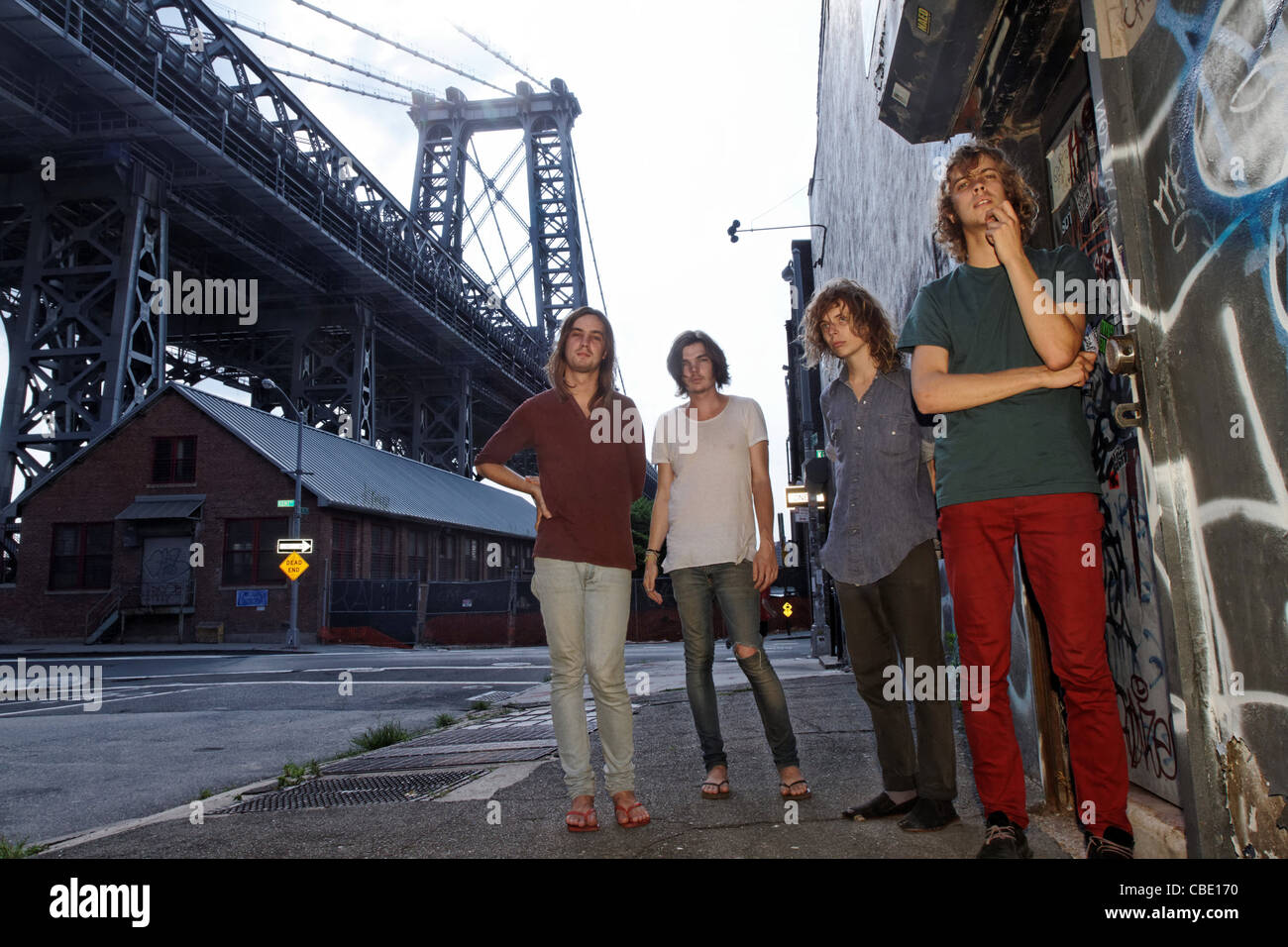 Tame Impala, from Perth, Australia pictured in New York City, the culmination of a tour of the United States. - Stock Image