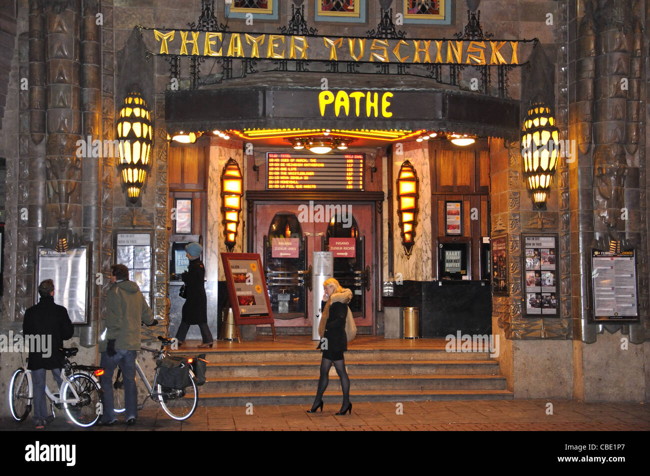 Pathé Tuschinski movie theatre, Reguliersbreestraat, Amsterdam, Noord-Holland, Kingdom of the Netherlands - Stock Image