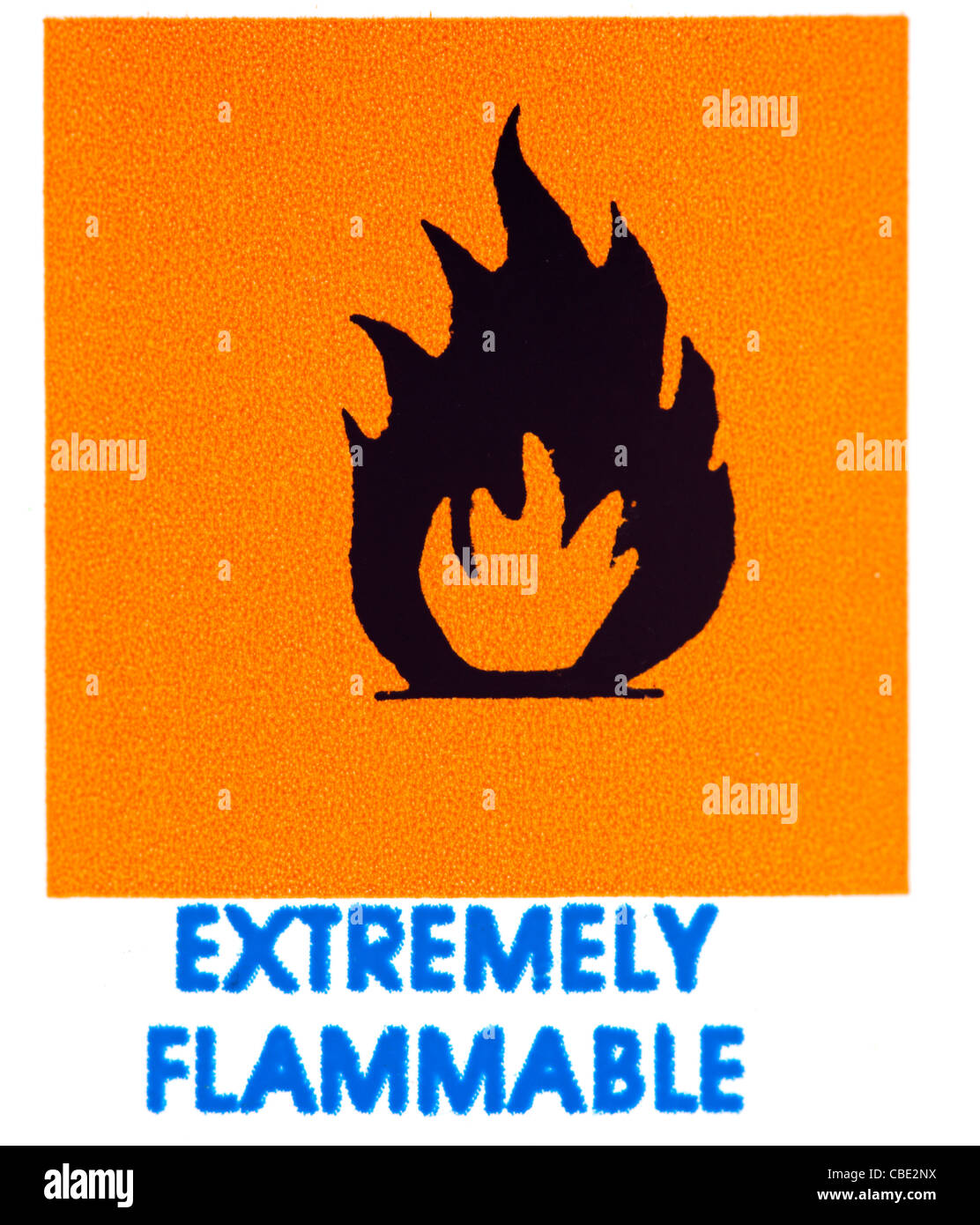 Extremely flammable warning - Stock Image