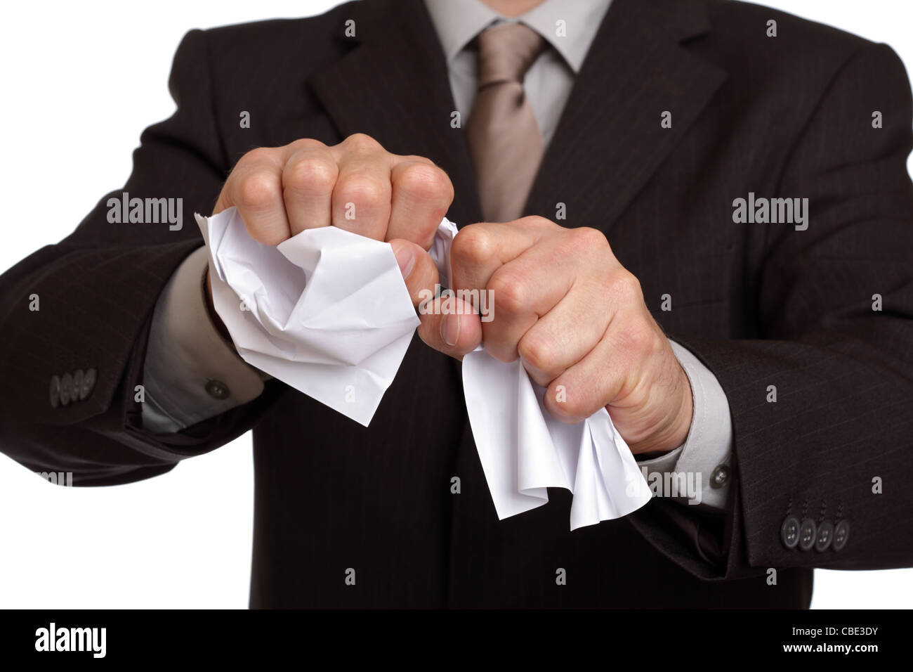 Tearing up the contract - Stock Image