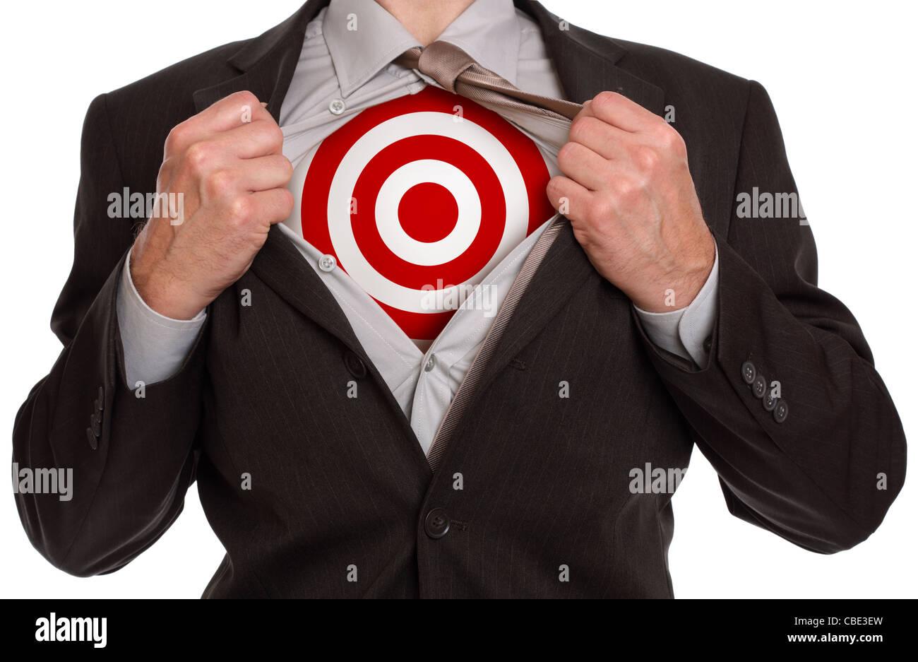 Superhero businessman - Stock Image