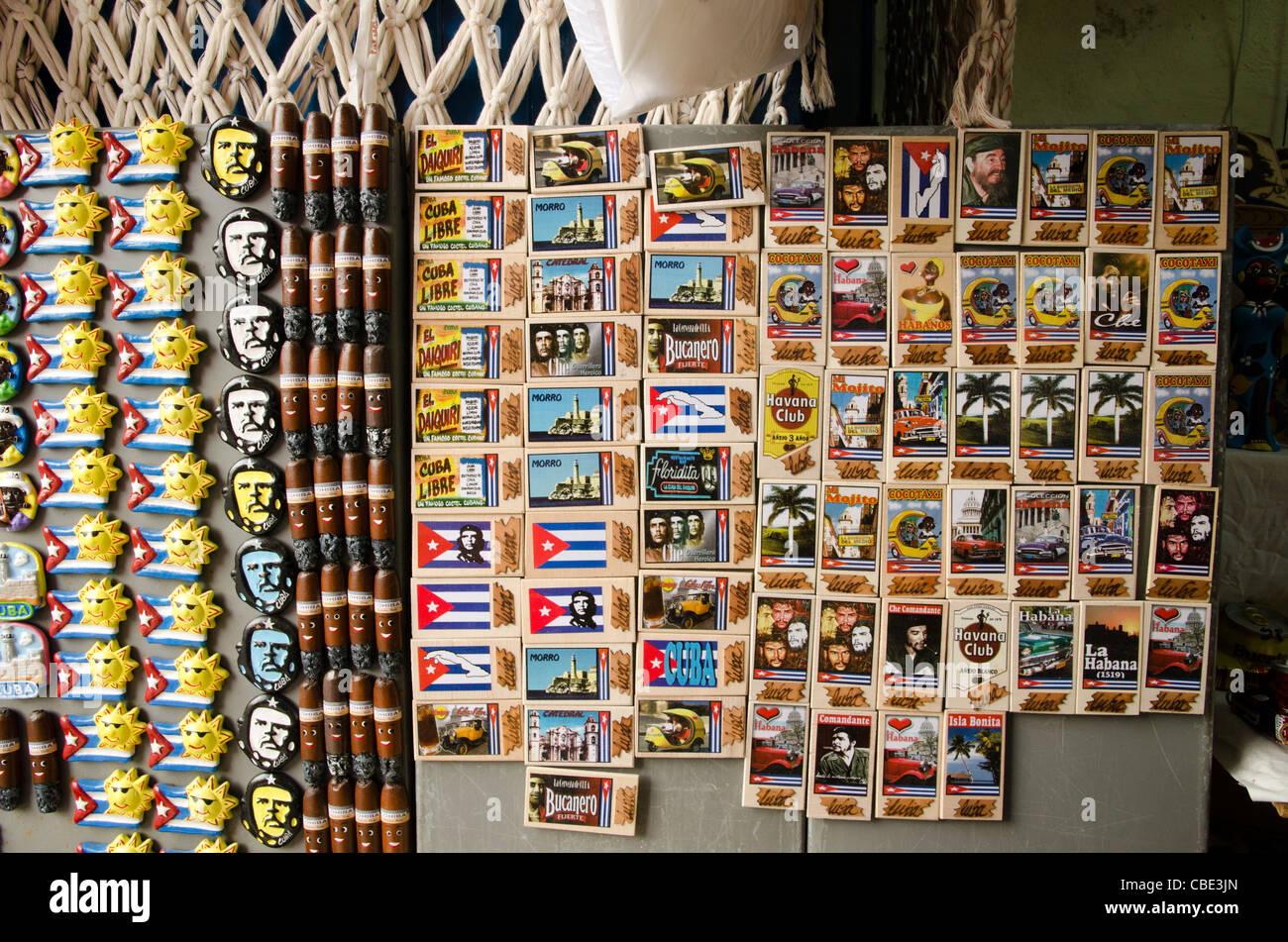 Fridge magnet souvenirs Havana Cuba Stock Photo
