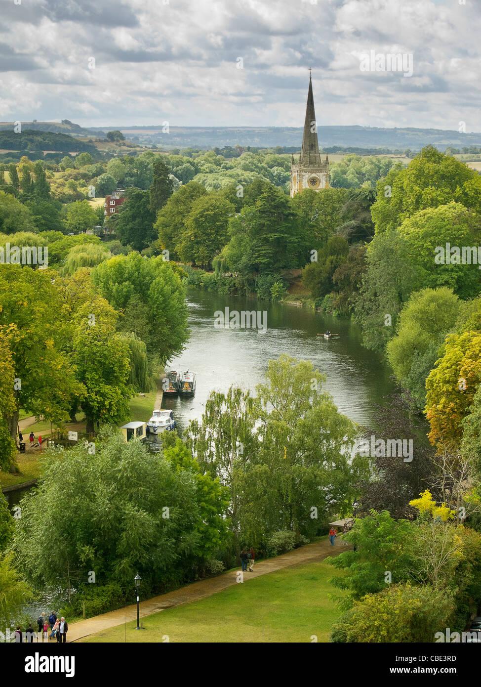 Holy Trinity Church and River Avon, Stratford-upon-Avon - Stock Image