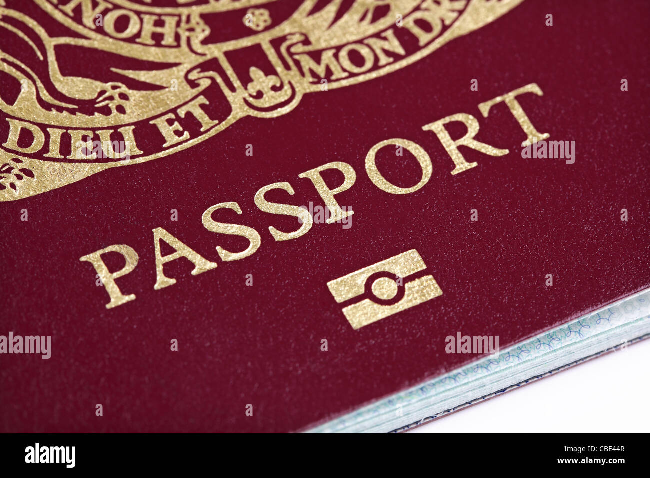 UK passport - Stock Image