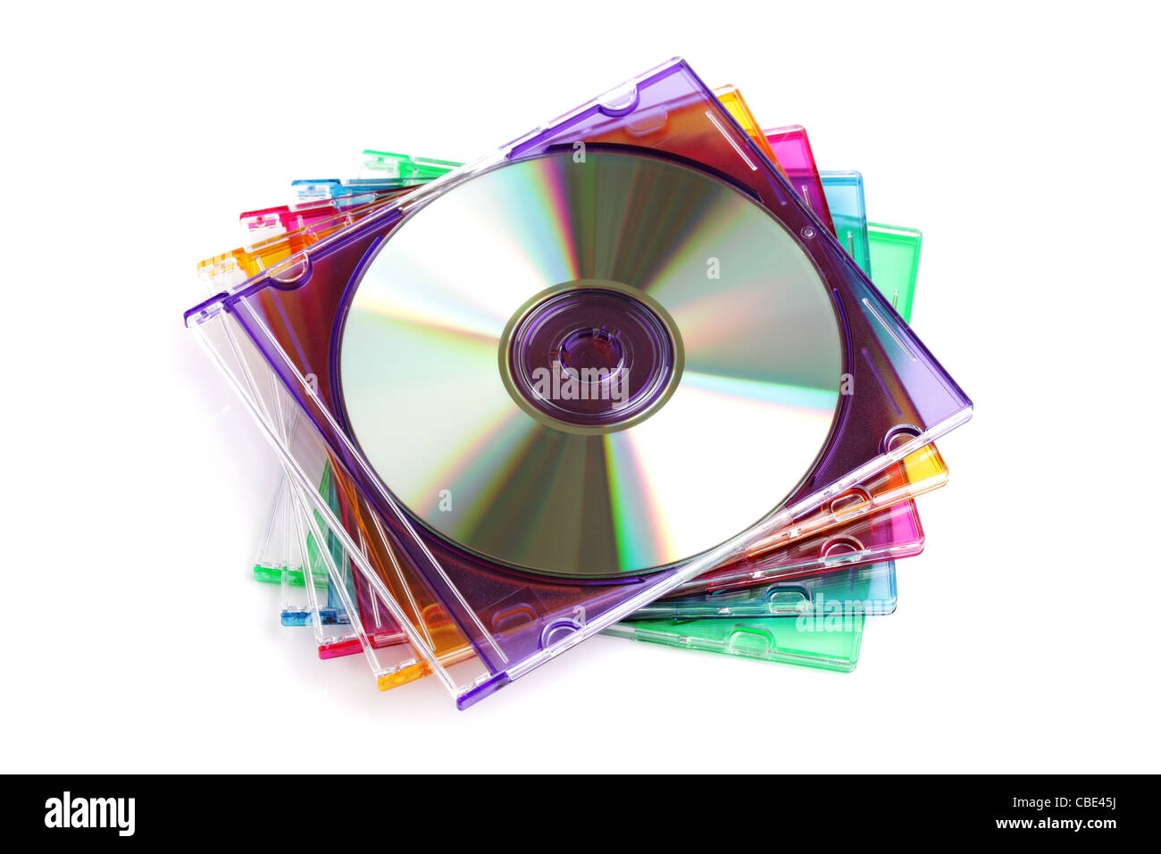 CD or DVD case - Stock Image