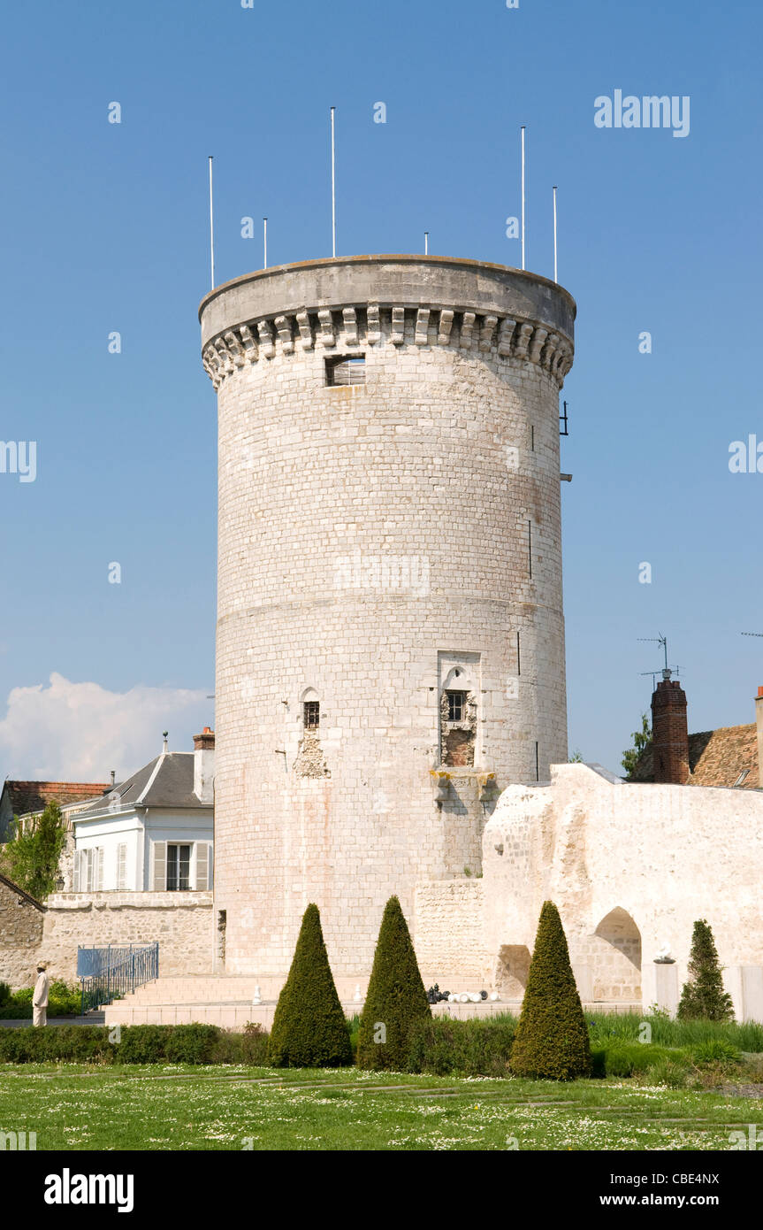 The Archives Tower, (remains of the old castle) in the town of Vernon, in Haute-Normandie, France - Stock Image