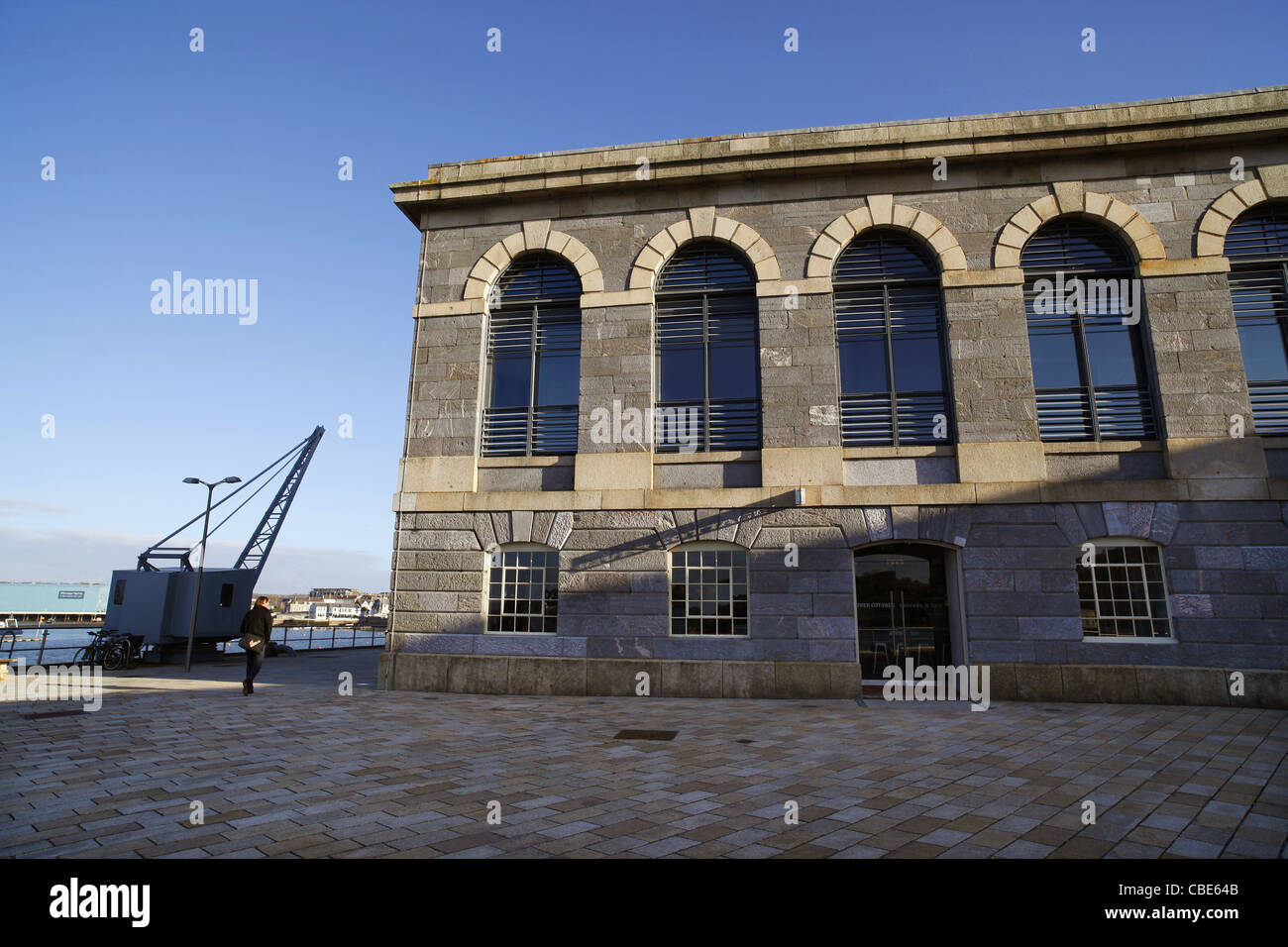 The River Cottage Canteen and Deli in the Brewhouse building in Plymouth's Royal William Yard, Devon, UK. - Stock Image
