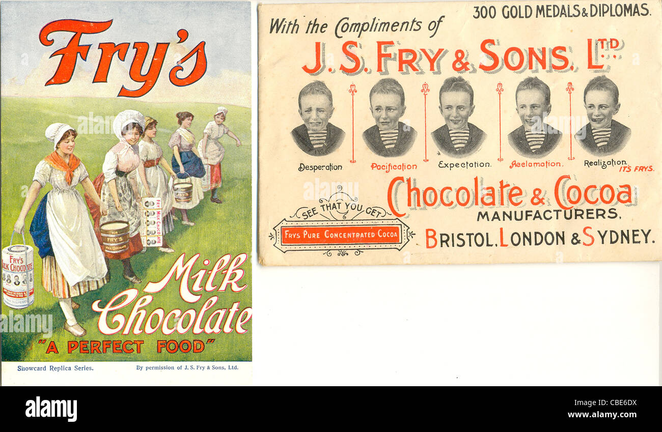 Advertisement Postcard And Envelope For Frys Five Boys