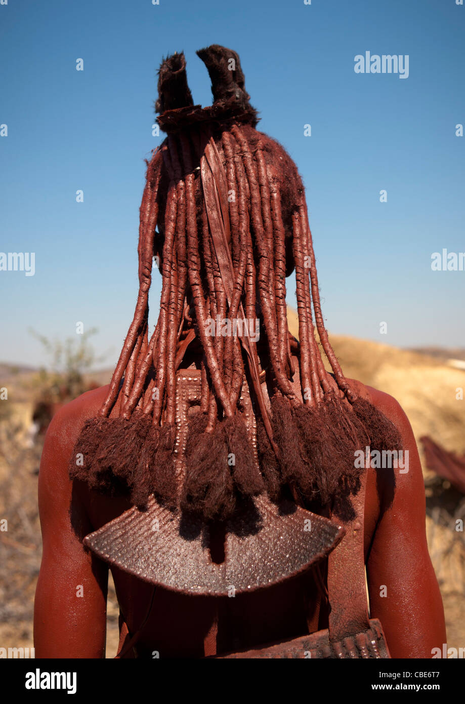 Muhimba Woman, Village Of Elola, Angola - Stock Image