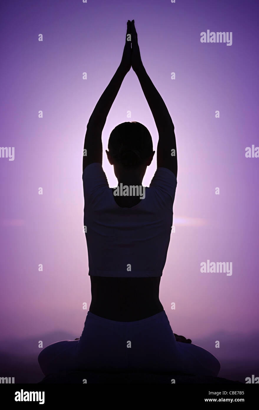 Young woman practicing Tai Chi South India - Stock Image