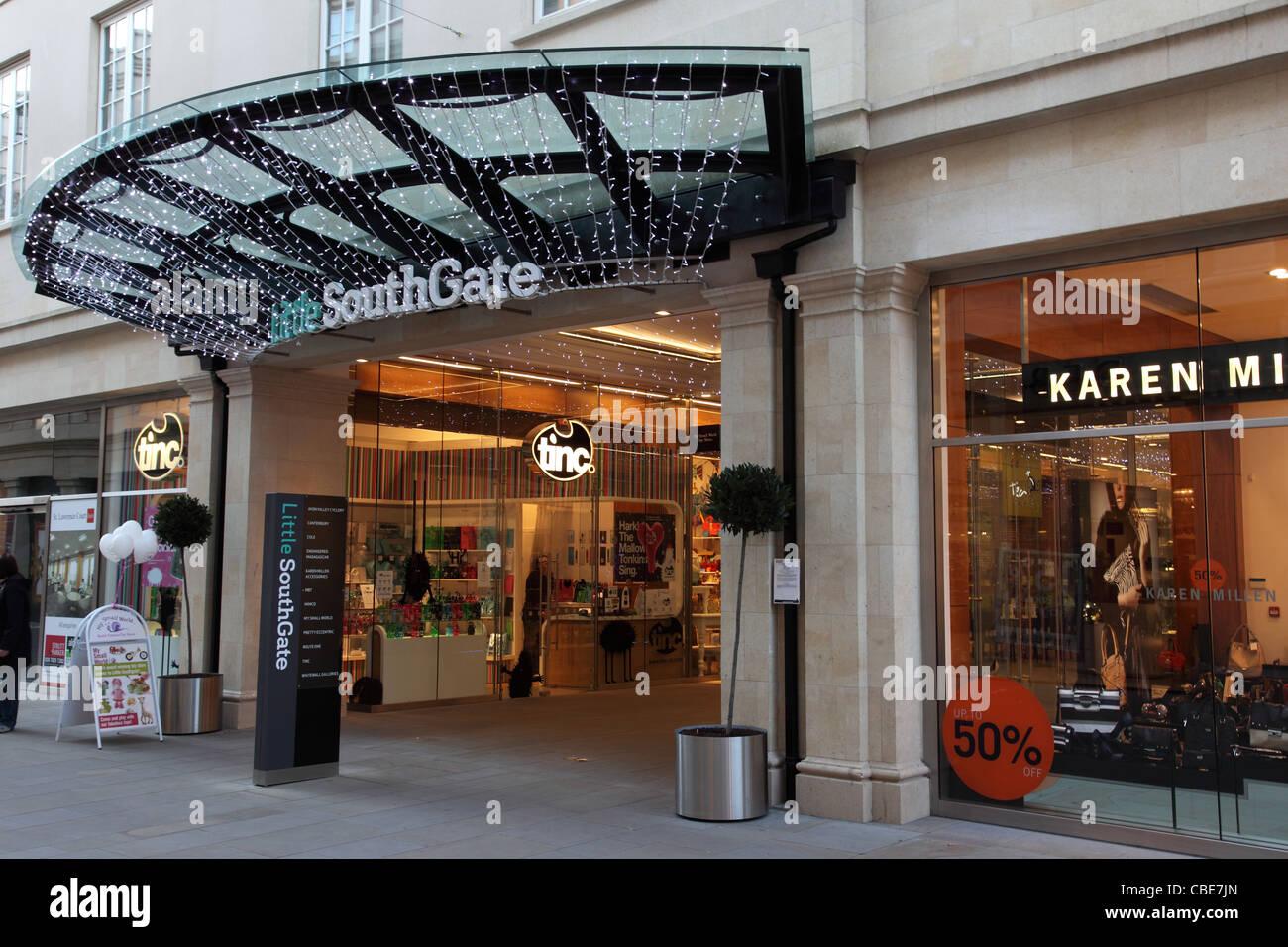 Little Southgate shopping precinct, Bath, England - Stock Image