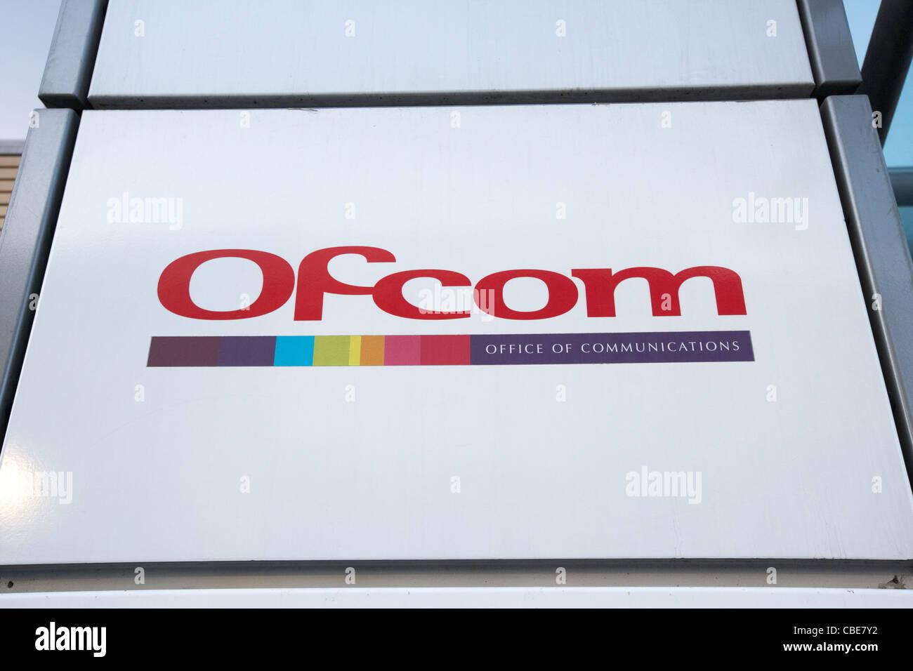 ofcom headquarters logo London England Uk United Kingdom - Stock Image