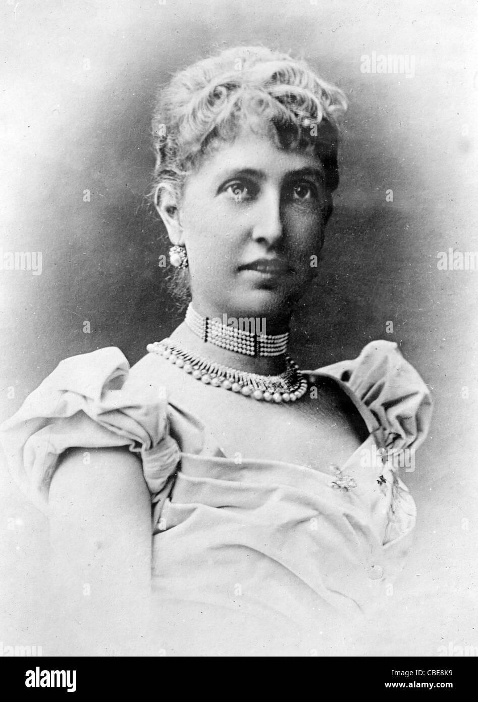 Princess of Monaco, the former Alice Heine, wife of Prince Albert of Monaco - Stock Image