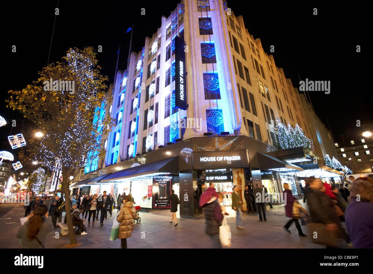 house of fraser oxford street christmas shopping london england united kingdom uk - Stock Image