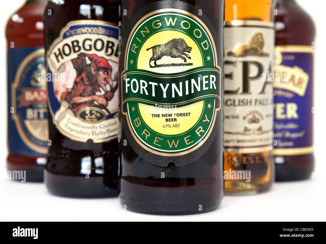 British bottled beers - Stock Image