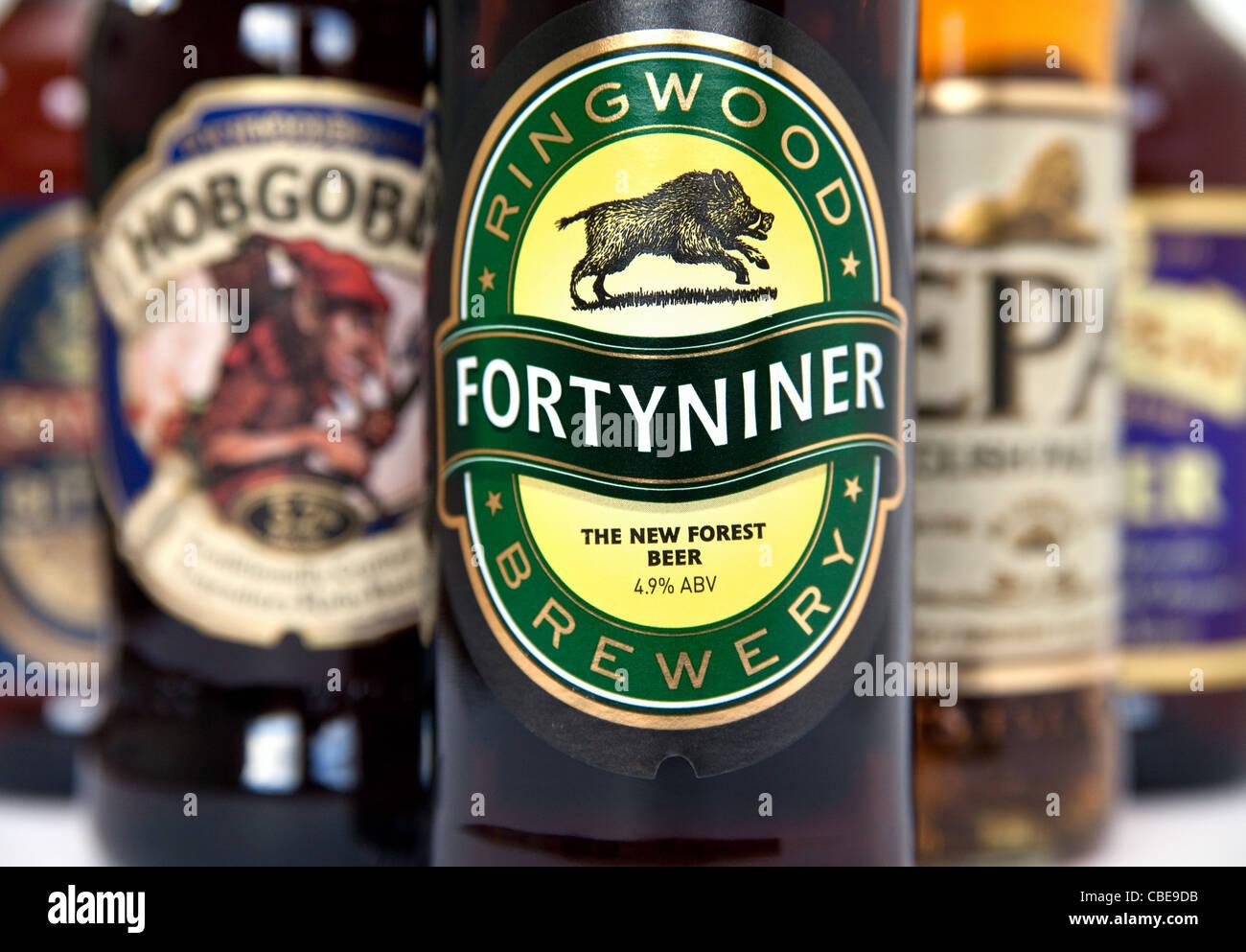 Several British bottled beers - Stock Image