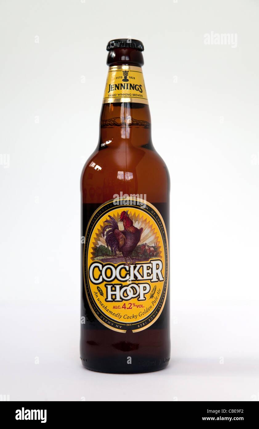 Bottle of Cocker Hoop British bottled beers - Stock Image