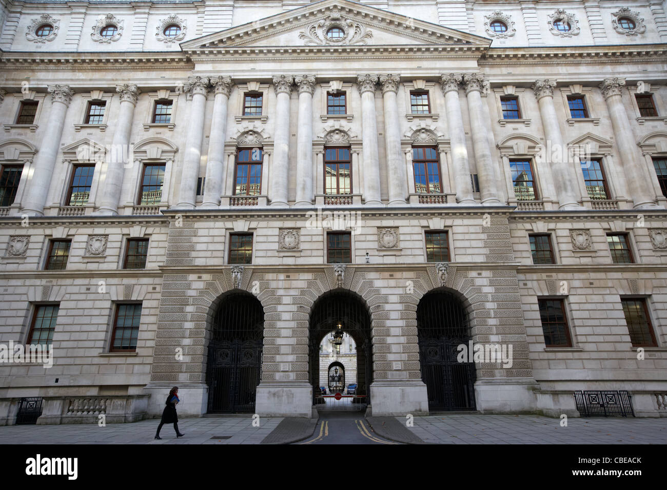 hm revenue and customs and hm treasury british government official building whitehall london england united kingdom - Stock Image