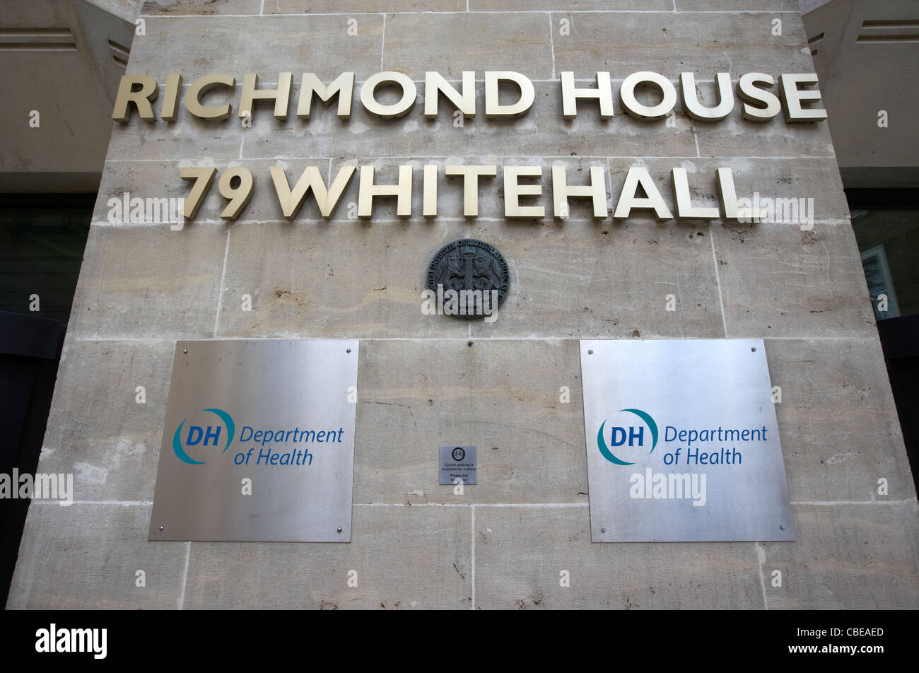 richmond house department of health british government official building whitehall london england united kingdom - Stock Image