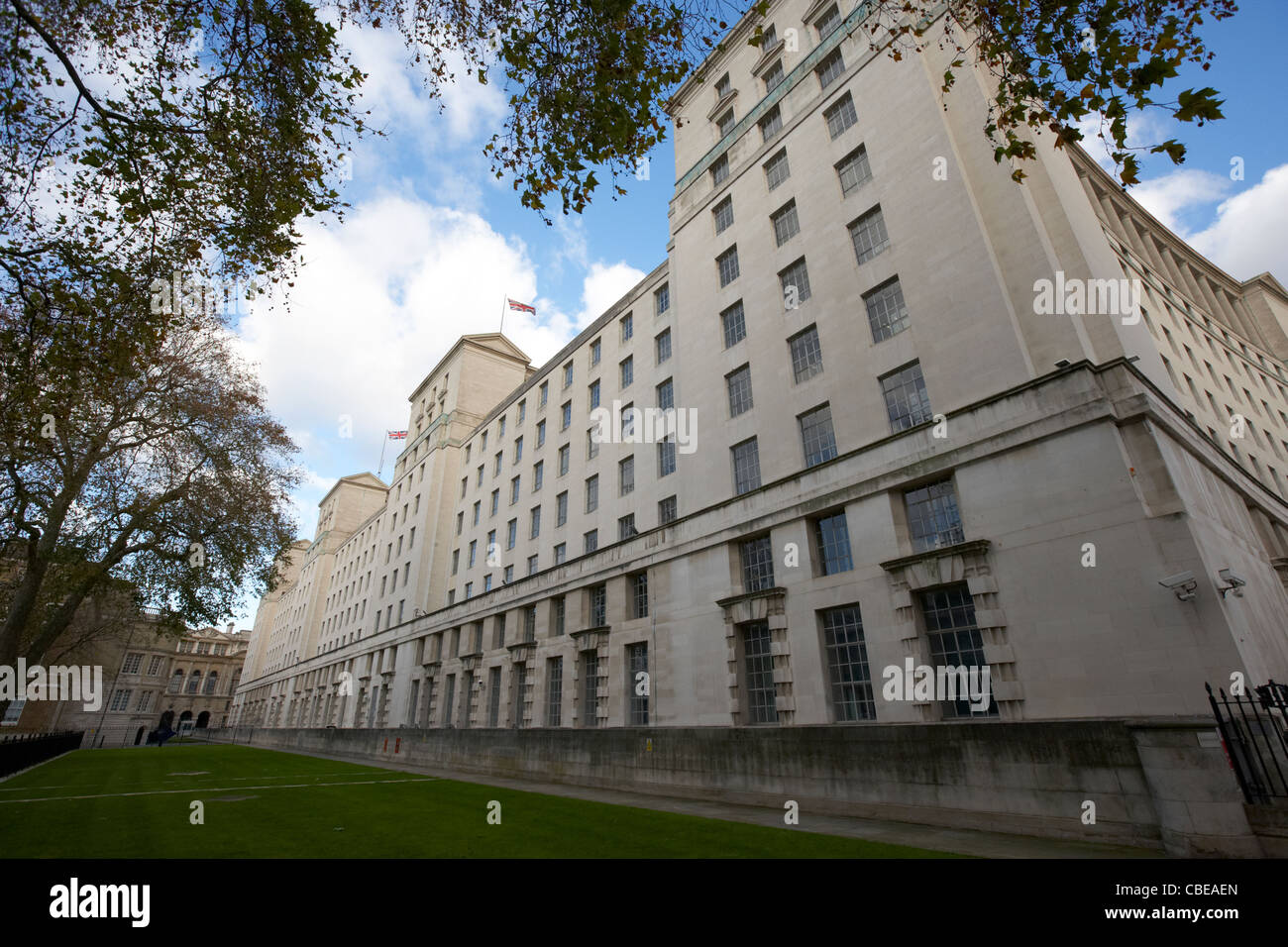 ministry of defence british government official building whitehall london england united kingdom uk - Stock Image