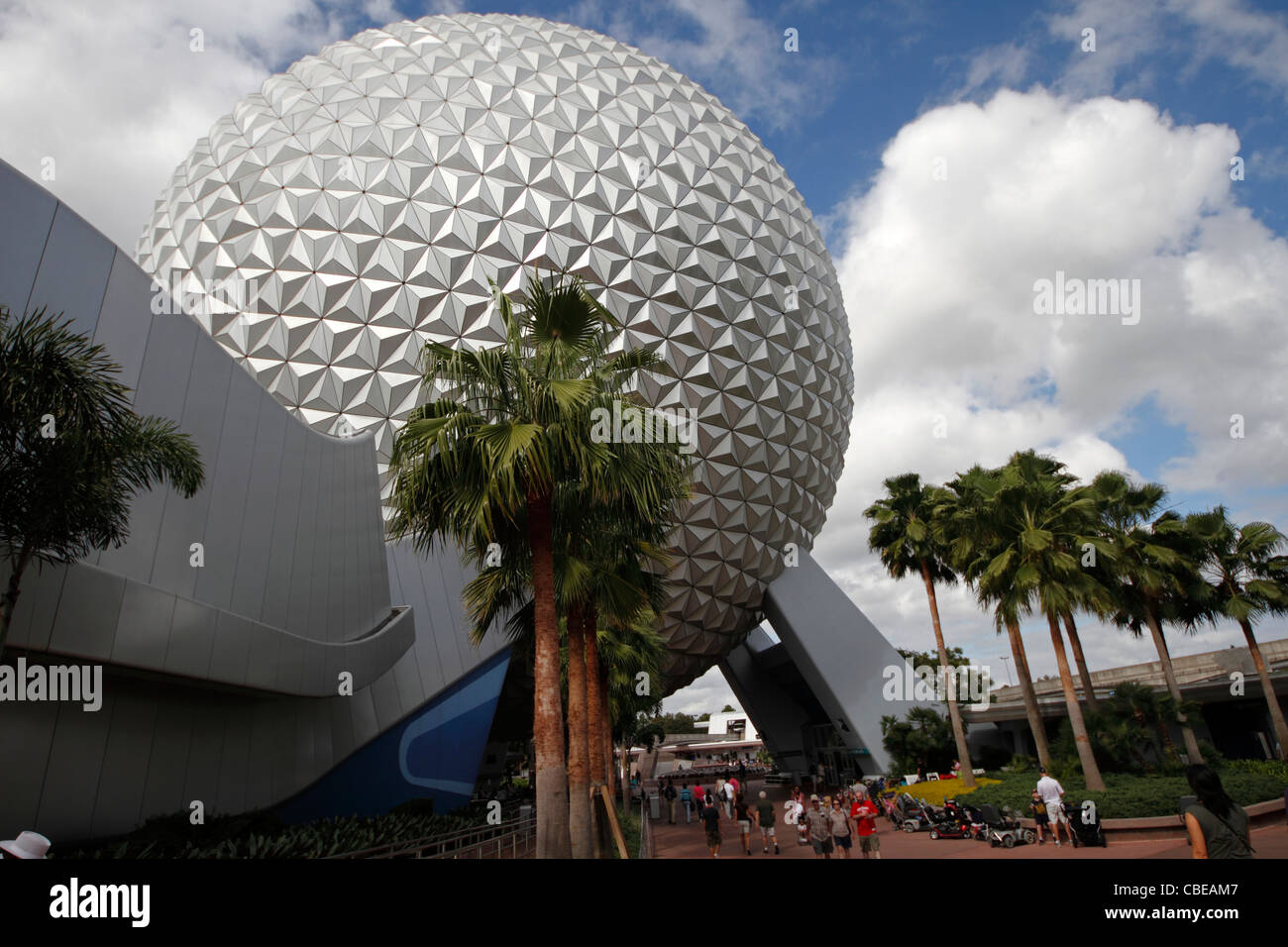 The Epcot Globe, spaceship earth, Disneyworld, Orlando, Florida - Stock Image
