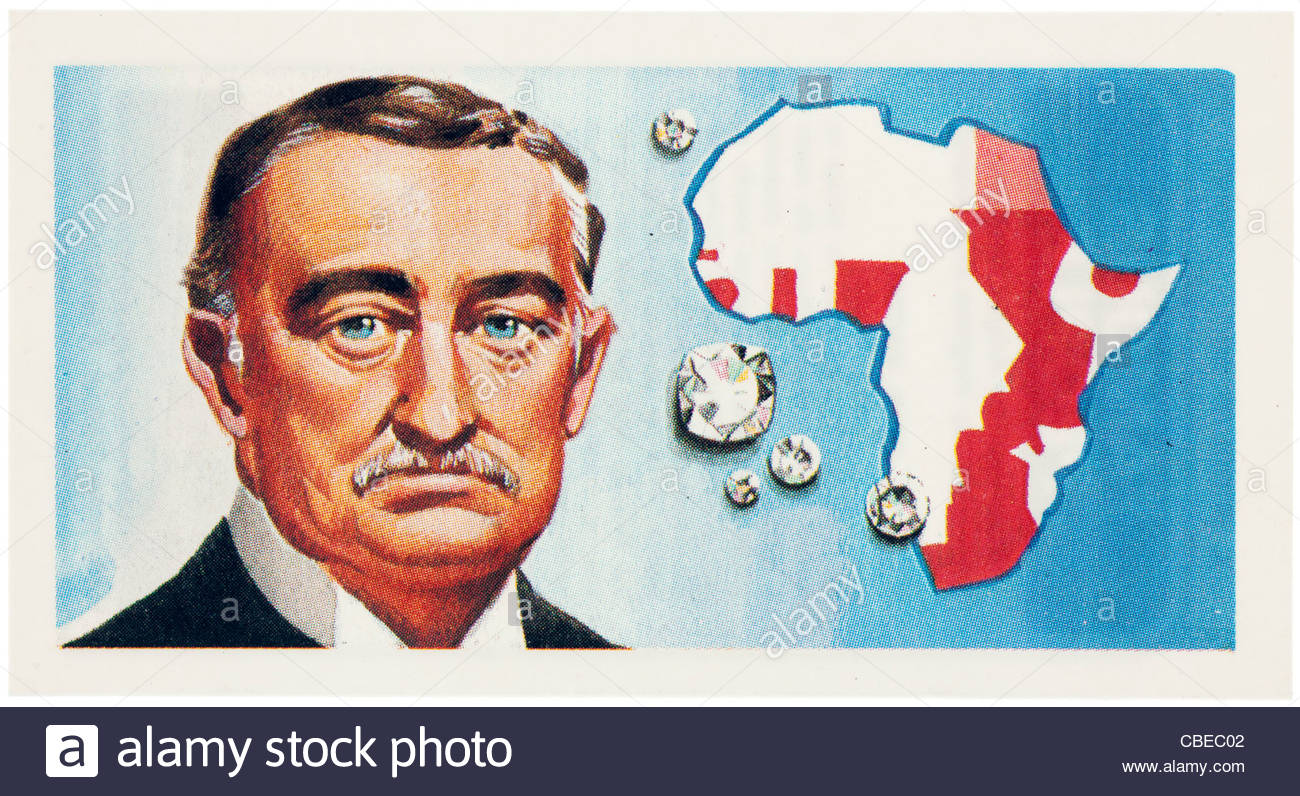 Cecil John Rhodes 1853 -1902  was an English-born South African businessman, mining magnate, and politician. EDITORIAL - Stock Image