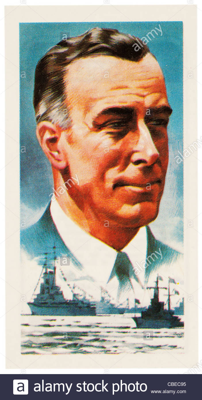 Louis Francis Albert Victor Nicholas George Mountbatten, 1900 -1979  was a British Statesman and naval officer. - Stock Image