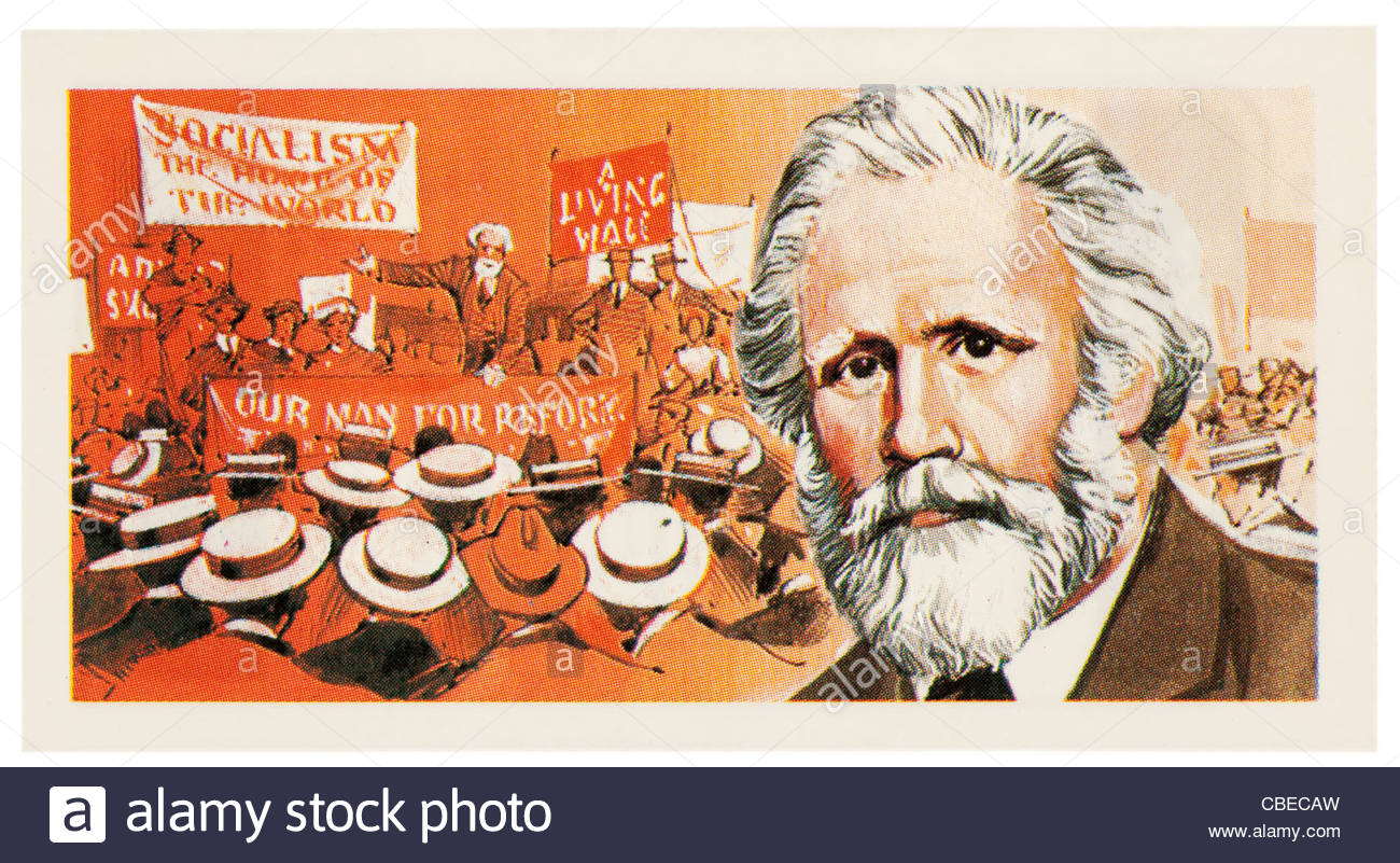 James Keir Hardie 1856 -1915 was a Scottish socialist and labour leader,. EDITORIAL ONLY - Stock Image