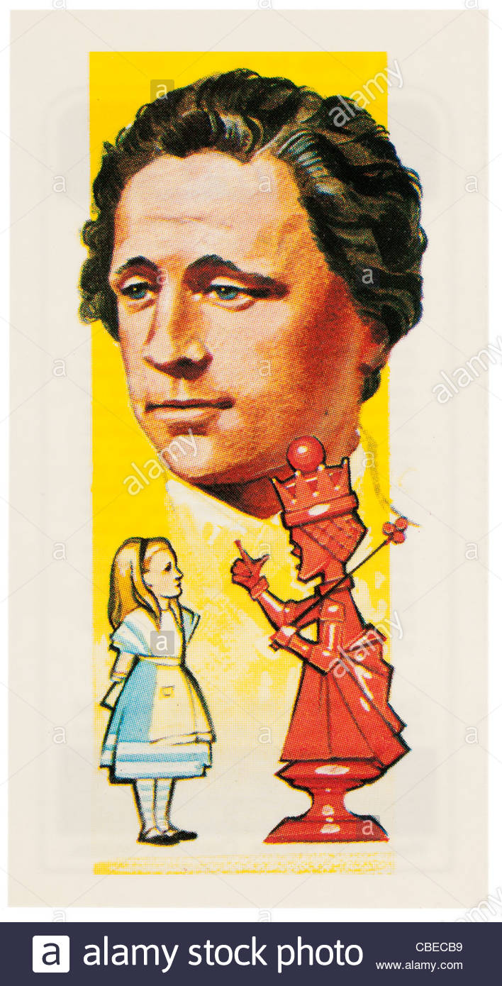 Lewis Carroll 1832-1898 was an English author, mathematician, logician, Anglican deacon and photographer. EDITORIAL - Stock Image