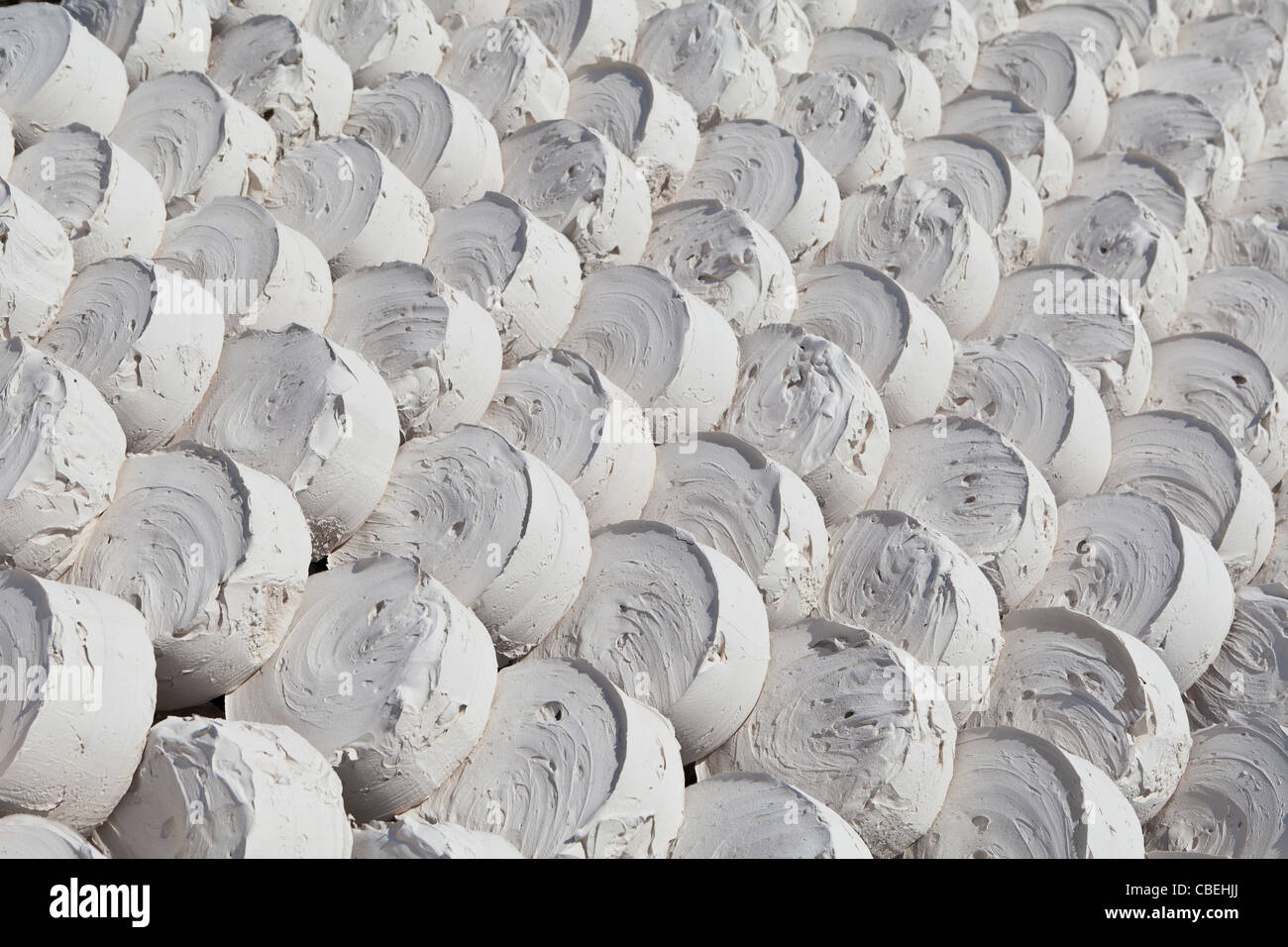 Lumps of drying marl or marlstone - Stock Image