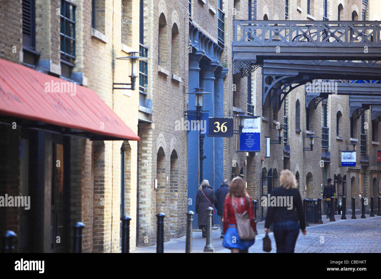 The exclusive area of Shad Thames, Southwark, London, UK - Stock Image
