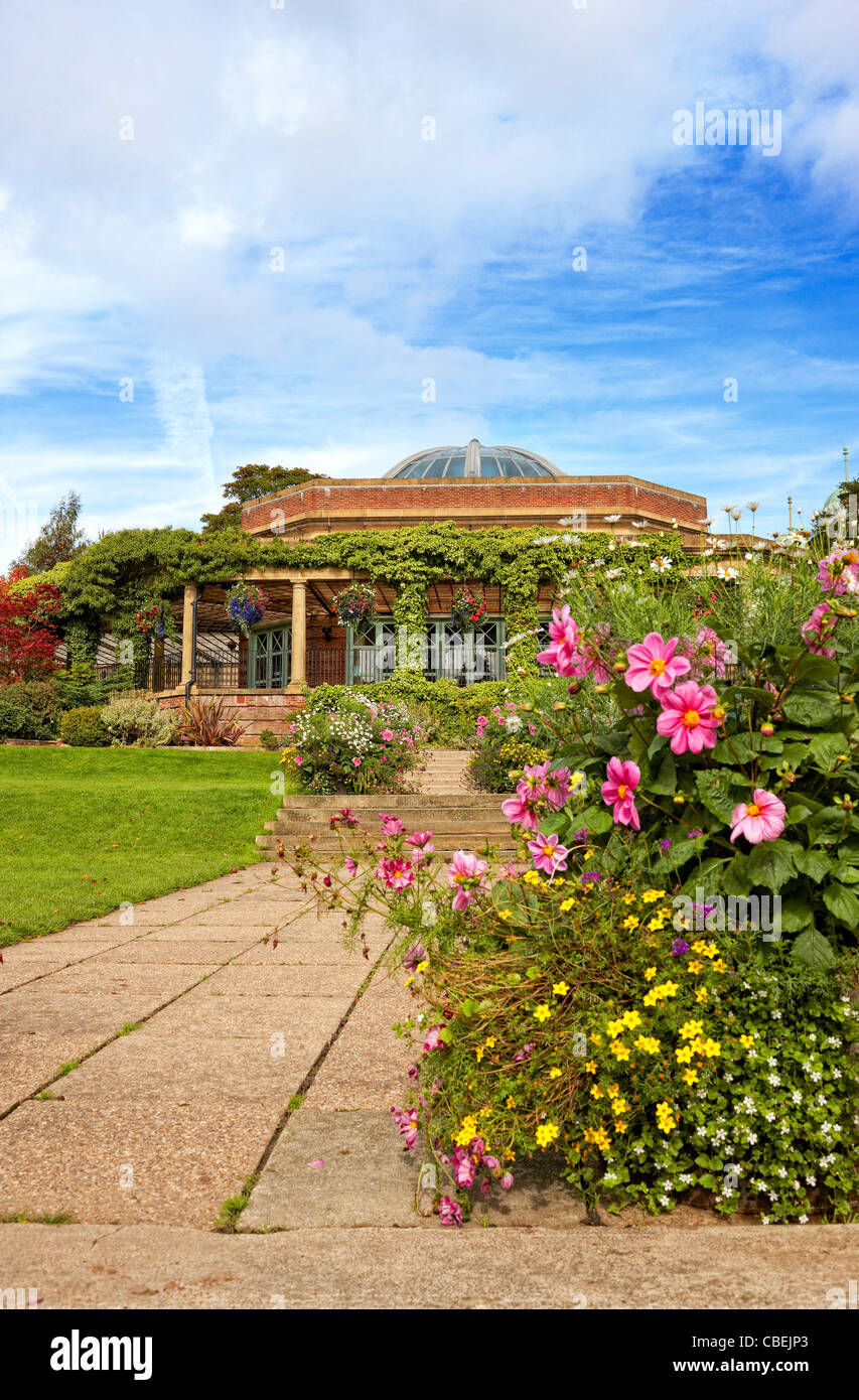 The Sun Pavillion in Harrogate's Valley Gardens - Stock Image