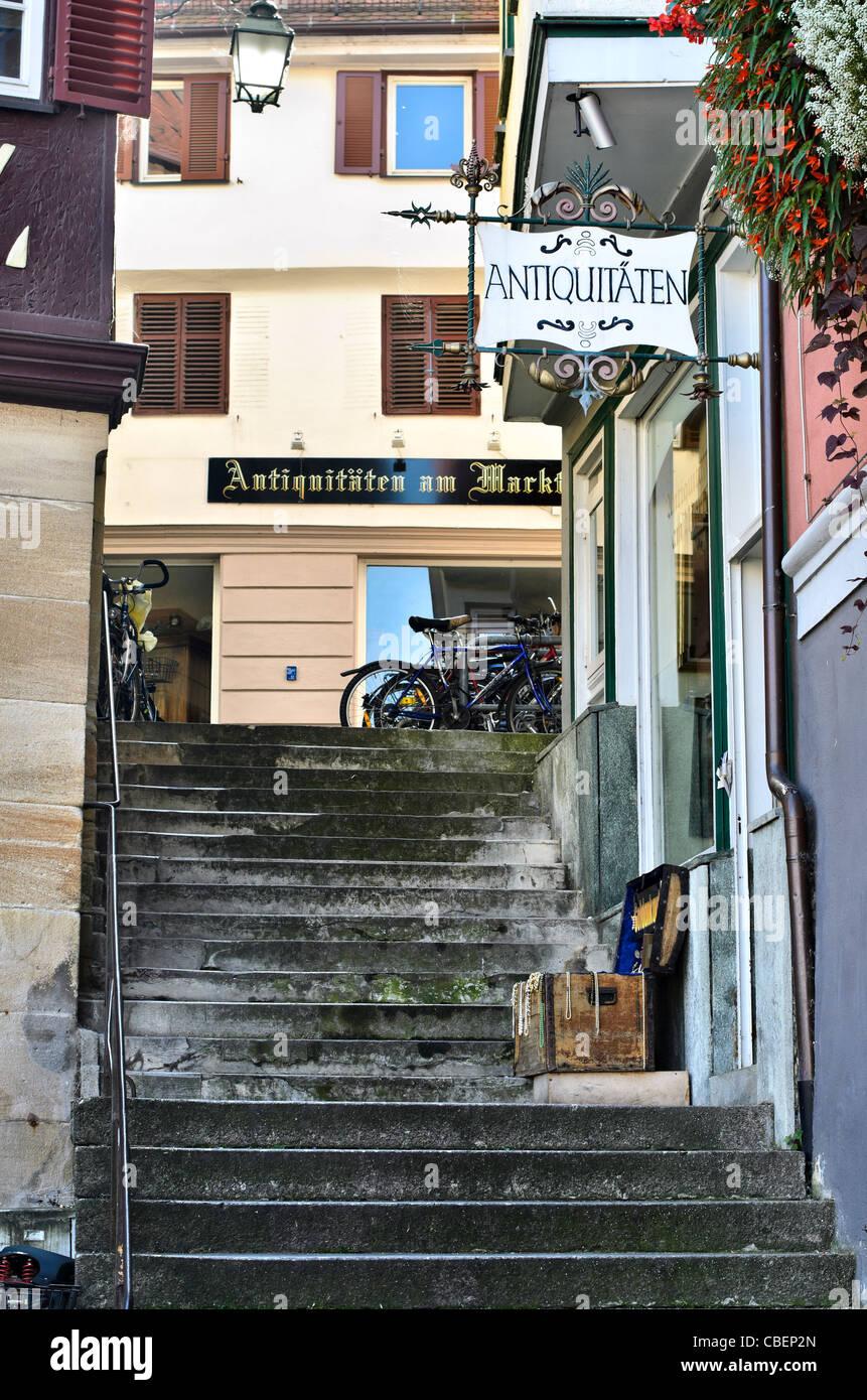 Antiquities store, Am Markt Tübingen, Germany, Europe - Stock Image