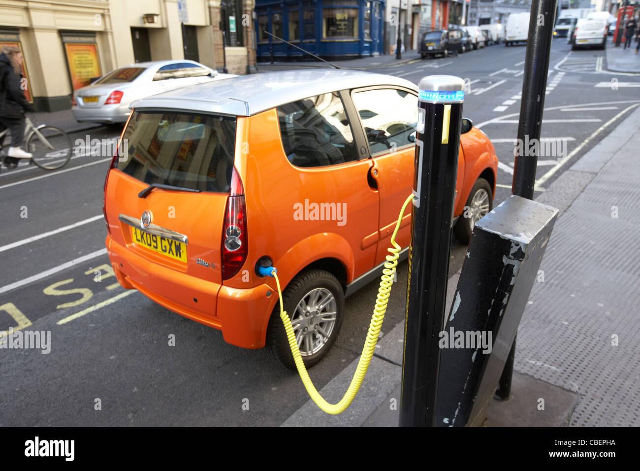 electric car charging point london england uk united kingdom - Stock Image