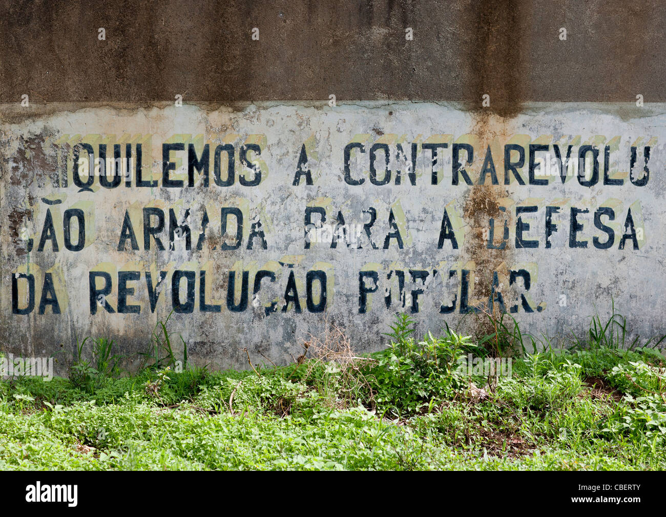 Old Cuban Propaganda Message By Fidel Castro, Lubango, Angola - Stock Image