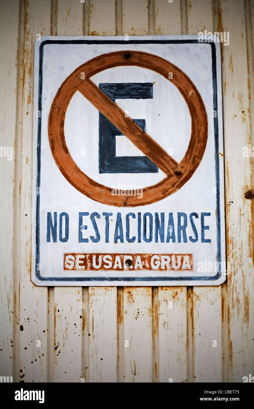 No Parking Sign. - Stock Image