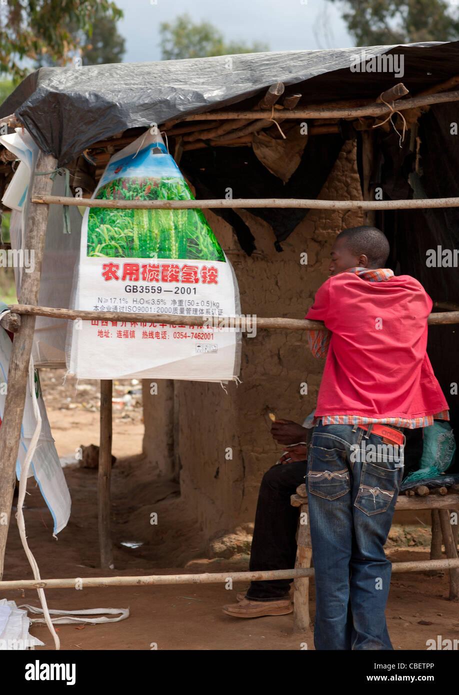 Chinese Advertisement In Lubango, Angola - Stock Image