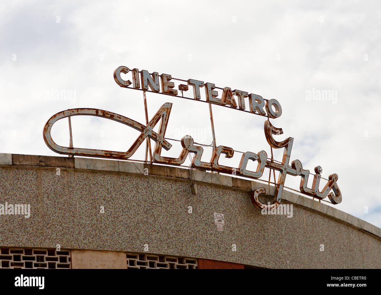 Cinema In Lubango, Angola - Stock Image
