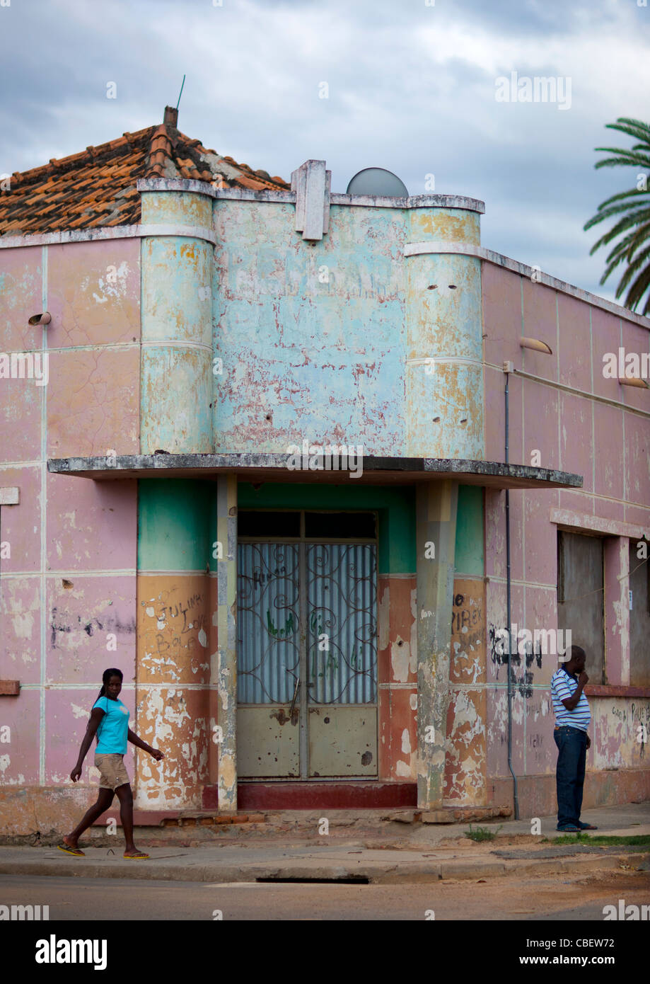 Old Dilapidated Building In Chibia, Angola - Stock Image