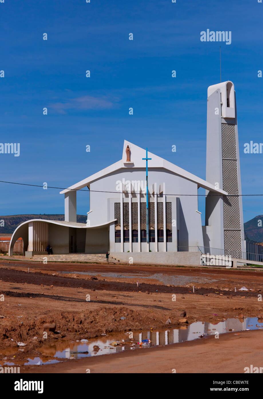 Church In Lubango, Angola - Stock Image