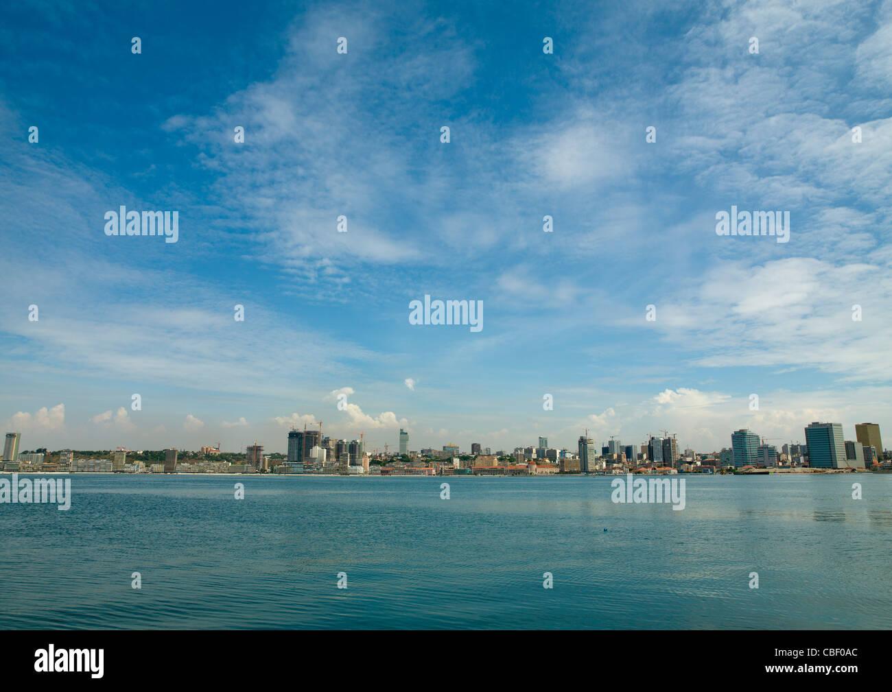 Skyline On Luanda Bay, Angola - Stock Image