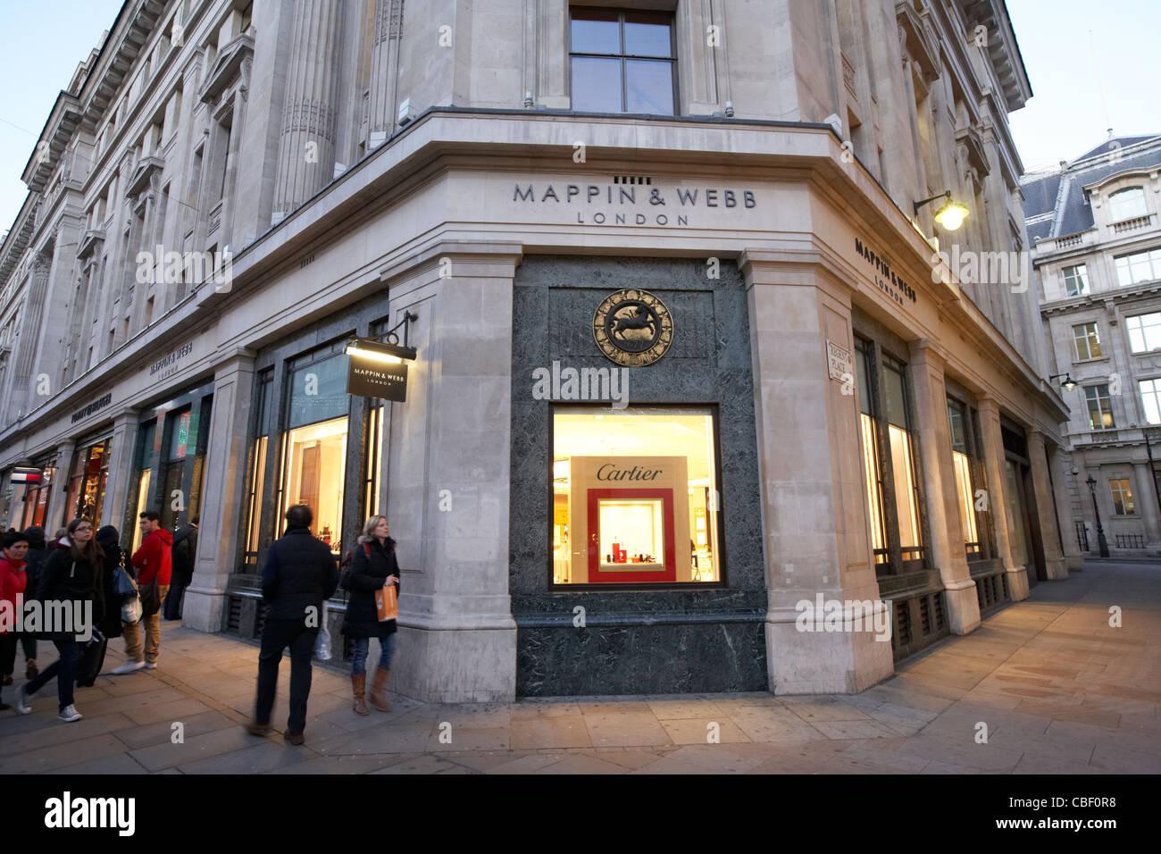 mappin and webb exclusive jeweller regent street london england uk united kingdom - Stock Image