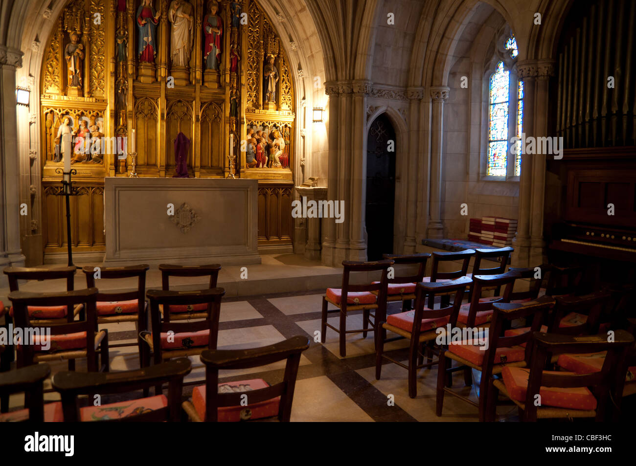 Children's Chapel in National Cathedral, Washington DC Stock Photo