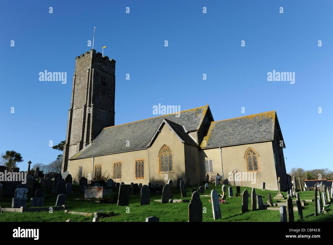 St Peter's Church Stoke Fleming South Hams Devon - Stock Image
